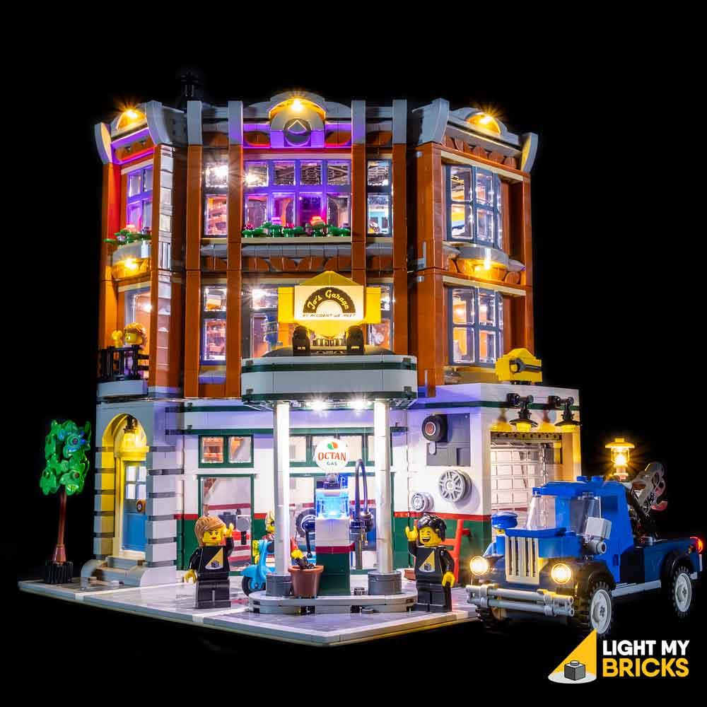 USB Powered LED Light Kit for Lego 10264 Corner Garage